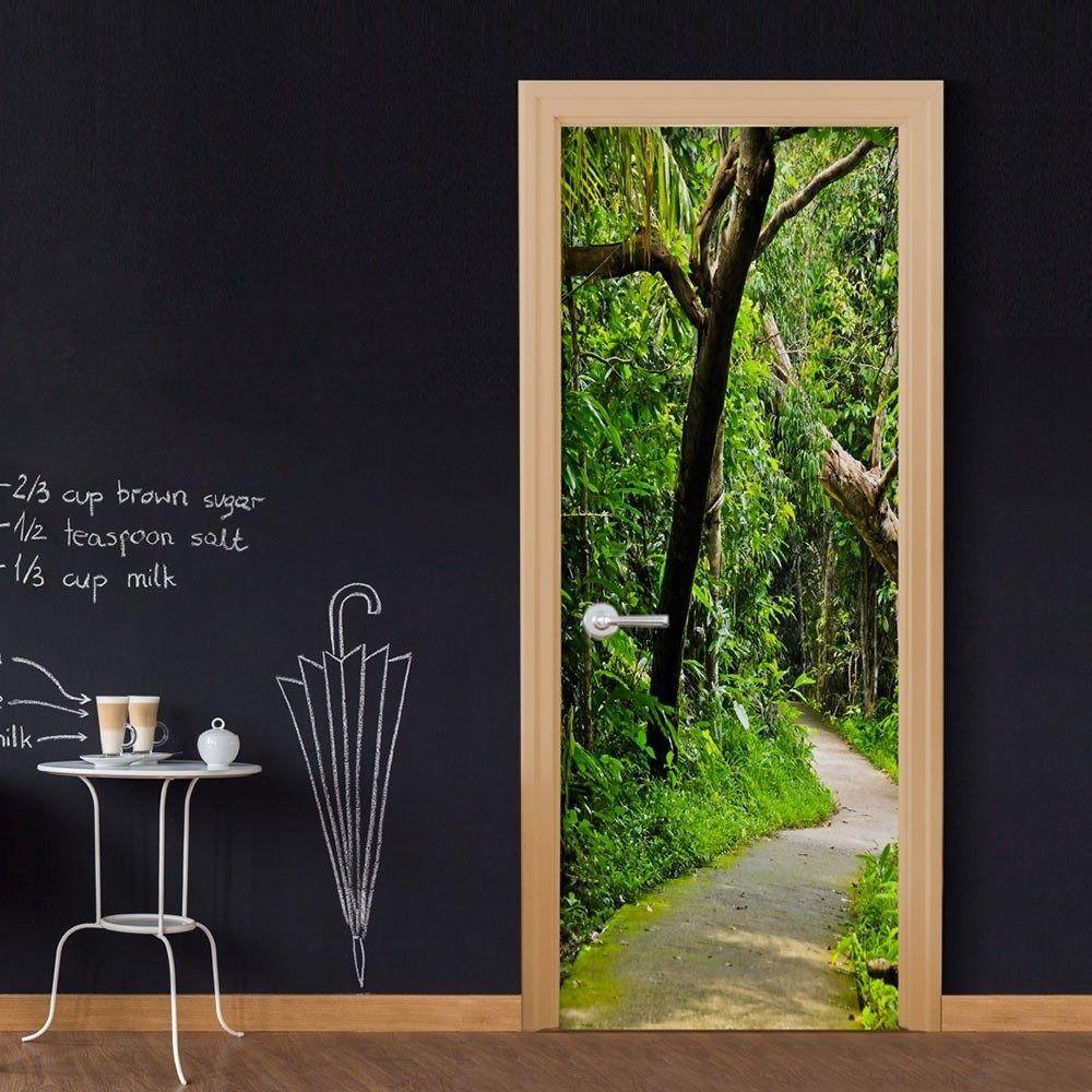 Fototapeta na drzwi - leśna aleja