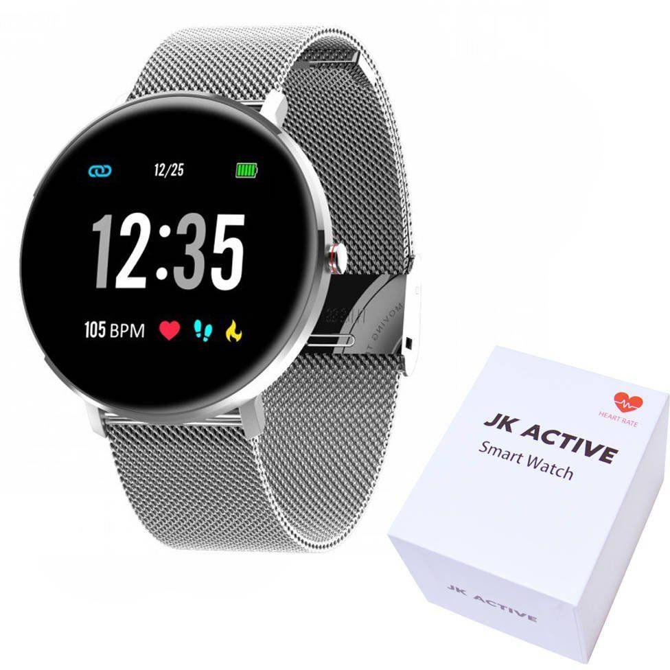 Zegarek JK Active Smartwatch czarny SMS Kroki Puls Kalorie