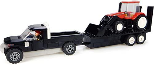 Universal Hobbies  uhk1206  Pick Up ze swoją przyczepą  traktor z klockami  obudowa z ładowarką i rolnikiem  231-częściowa