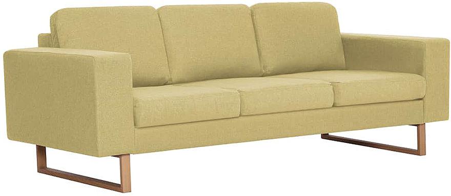 Elegancka trzyosobowa sofa Williams 3X - zielona