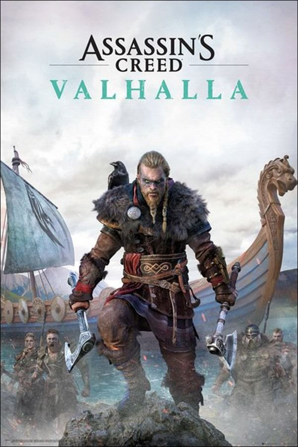 Assassins creed valhalla wiking - plakat