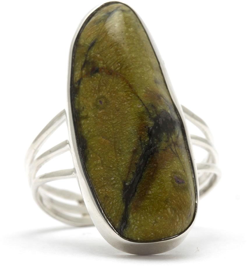 Kuźnia Srebra - Pierścionek srebrny, rozm. 14, Stichtyt, 4g, model