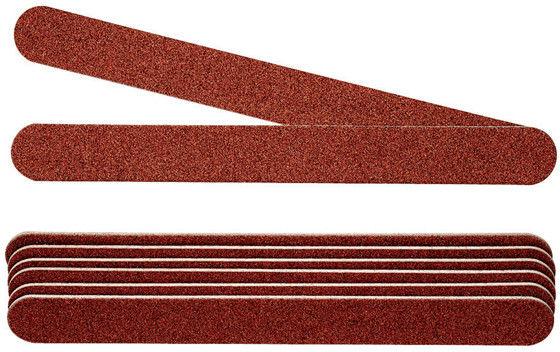 PEGGY SAGE - Komplet 8 x pilniki do paznokci profesjonalne dwustonne 100/100, bordowe - ( ref. 122230)