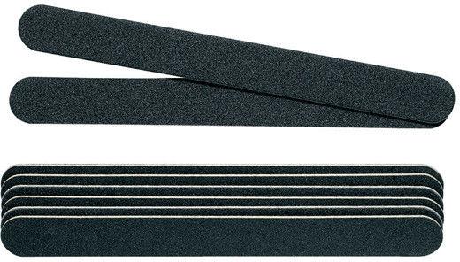 PEGGY SAGE - Komplet 8 x pilniki do paznokci profesjonalne dwustronne 180/180, czarne - ( ref. 122240)