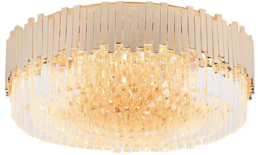 Maxlight Trend C0164 plafon lampa sufitowa metalowa kryształowe sople zawieszone pionowo 15x40W E14 60cm