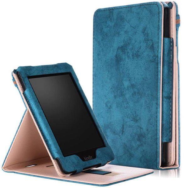 Etui Alogy Slim Leather do Kindle Paperwhite 4 2018/2019 Niebieskie