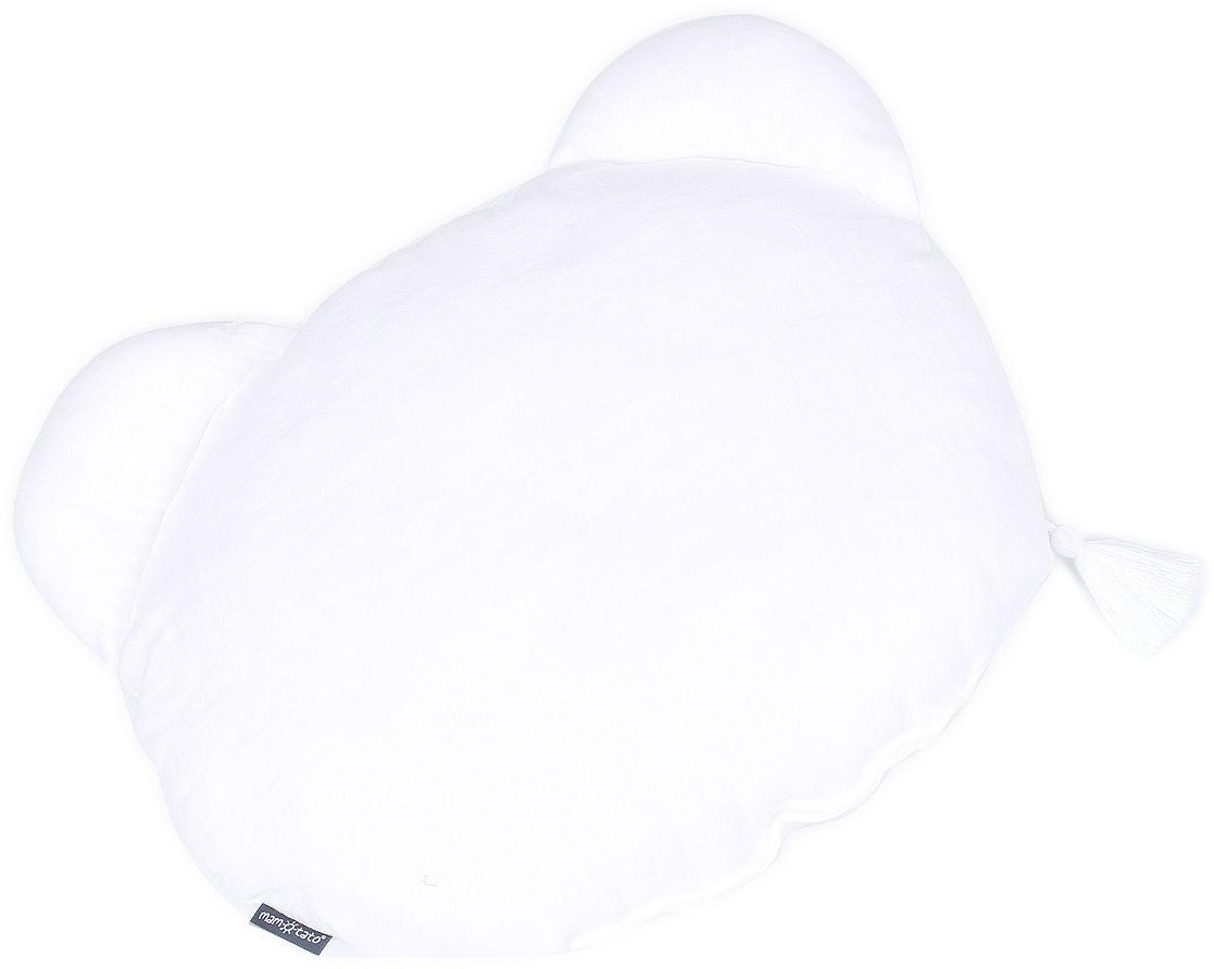 MAMO-TATO Poduszka MIŚ Muślin Double Gauze dla dzieci z chwostem - Biały