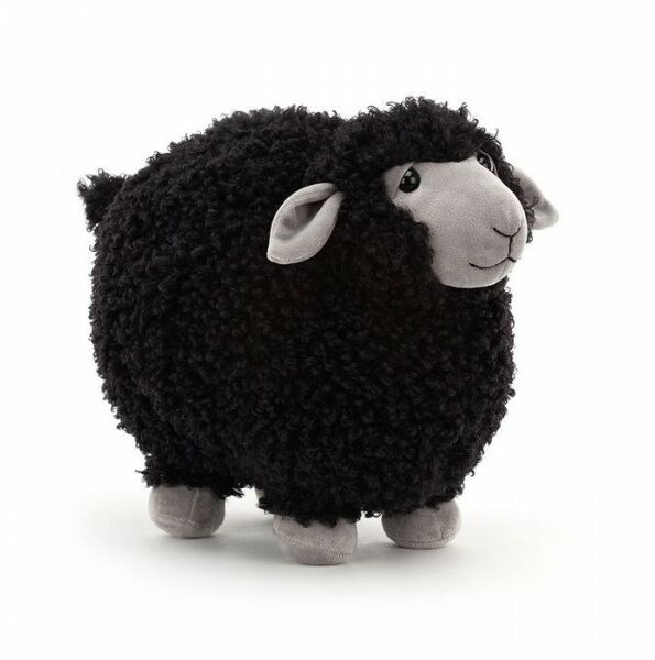 Jellycat JellyCat - Przytulanka Maskotka Rolbie Sheep Black Czarna Owieczka 28x19 cm