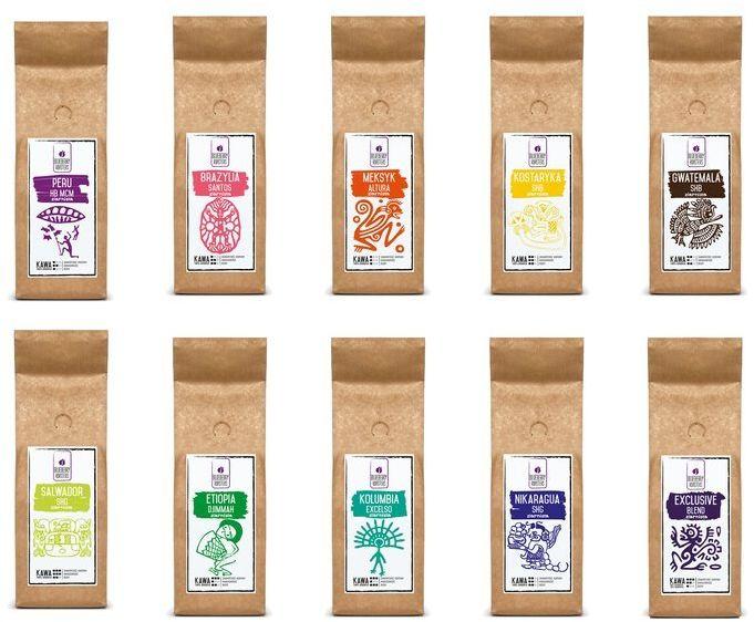 Zestaw powitalny  kawa mielona 10x100 g