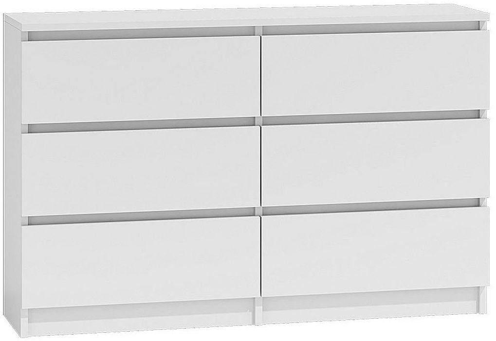 Nowoczesna komoda z szufladami Marea 2X 140 cm - biała