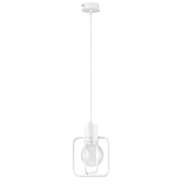 Lampa wisząca AURA kwadrat biała połysk