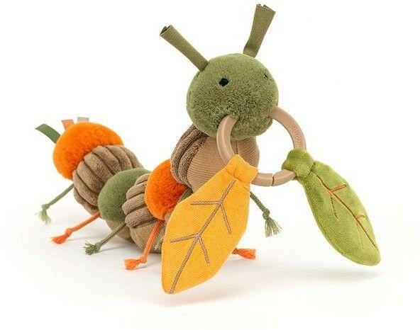 JellyCat - Christopher Caterpillar Activity Toy - Gąsienica 12x23 cm