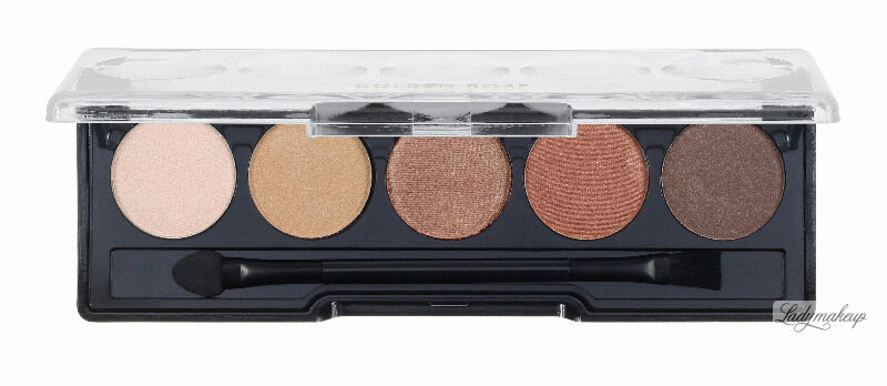 Golden Rose - Professional Palette Eyeshadow - Paleta 5 cieni do powiek - 103 - BROWN LINE