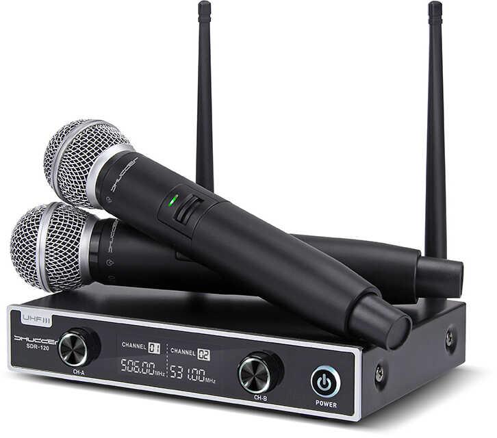 Mikrofony bezprzewodowe 2 kanał Shudder 2x ręka
