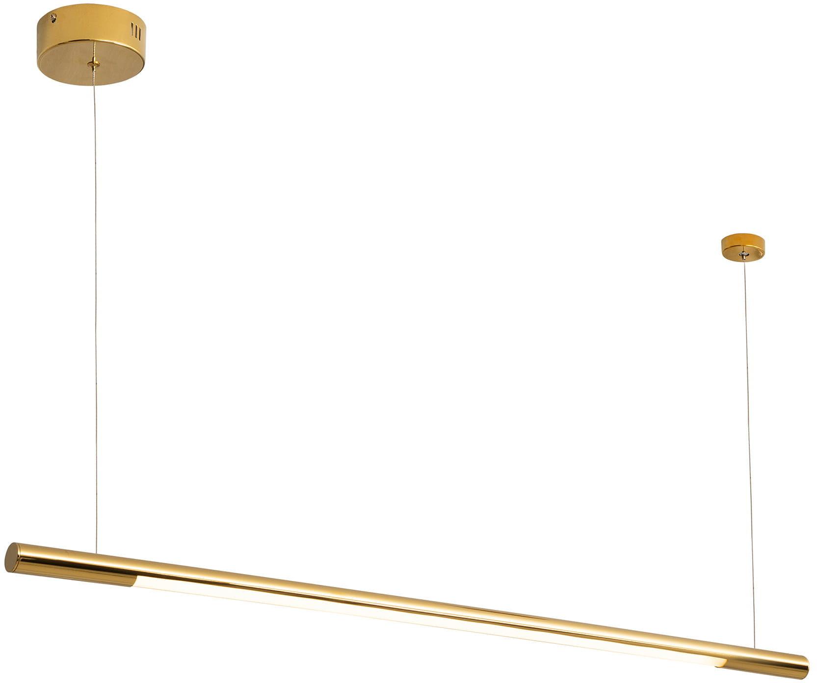 Lampa wisząca Organic Horizon P0356 Maxlight pojedyncza złota oprawa sufitowa