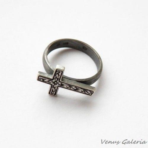 Pierścionek srebrny - Wiara
