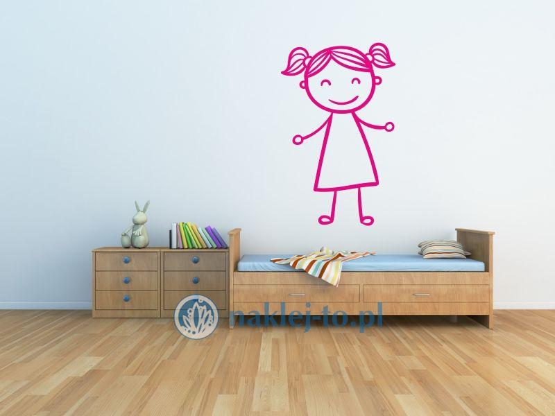 naklejka Dziewczynka Hania naklejka na ścianę