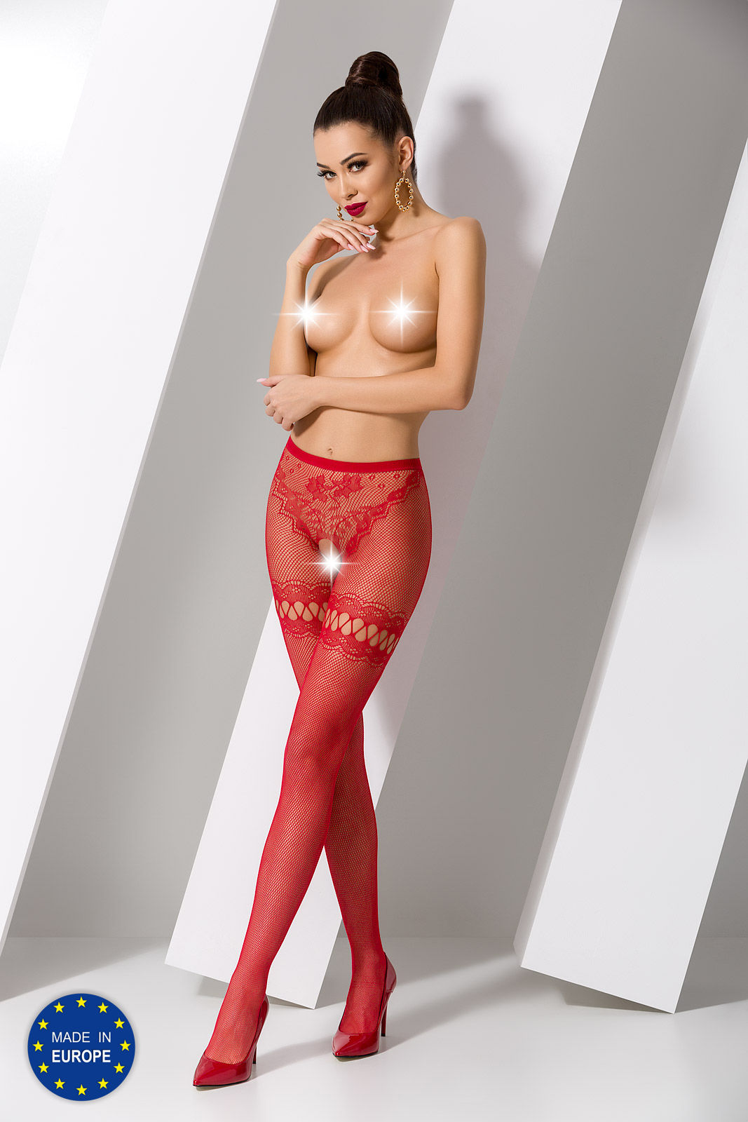 Passion S015 Tights Red
