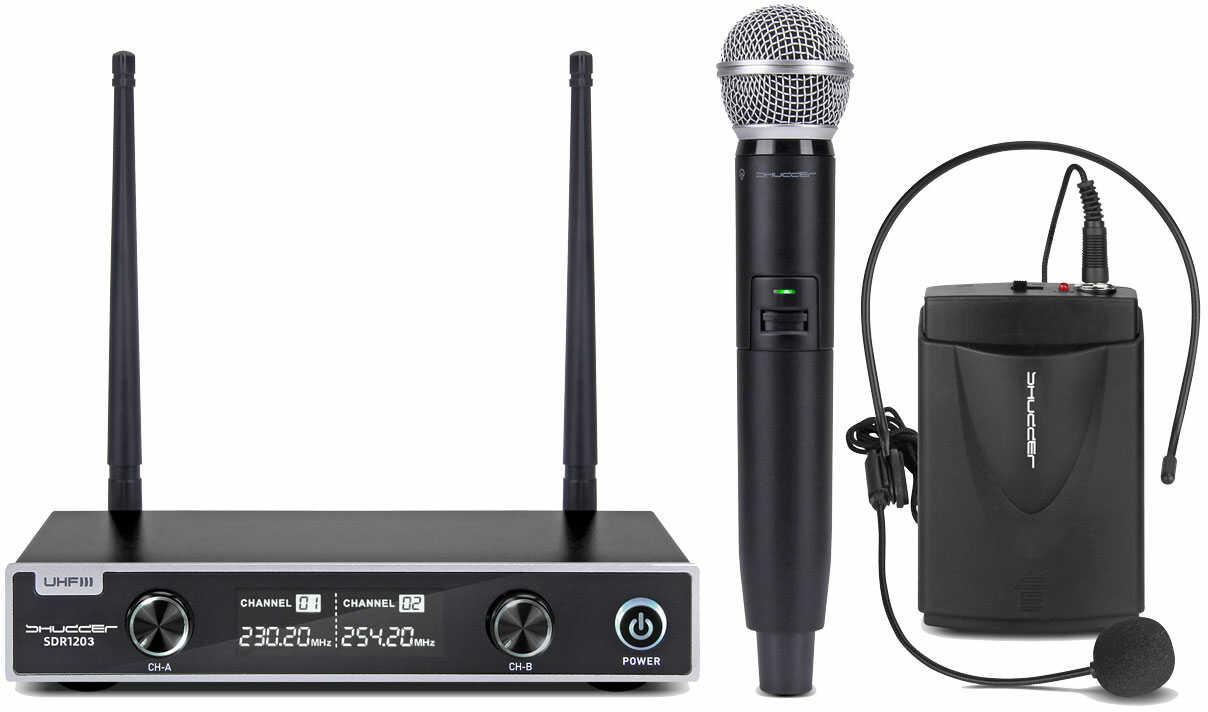 Mikrofony bezprzewodowe 2 kan. Shudder ręka+głowa
