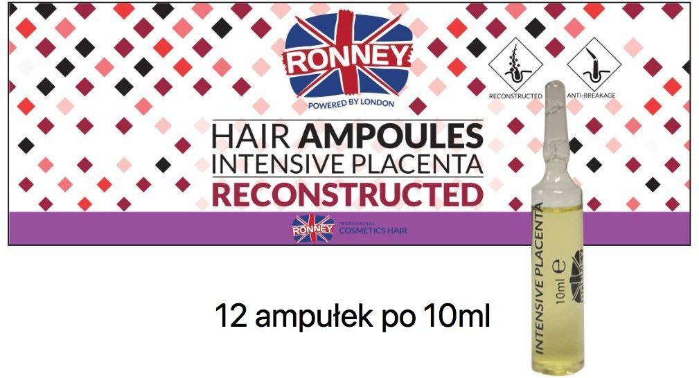 Ekstrakt z łożysk placenta Ronney Hair Ampoules 12szt