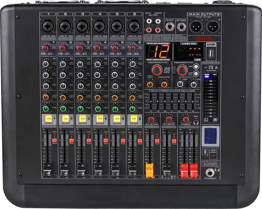 Mikser Brass Tone Audio 6K 2X300W BTA1306