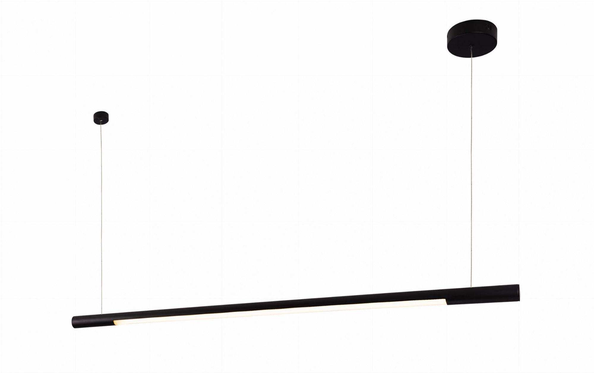 Lampa wisząca Organic Horizon P0358 Maxlight pojedyncza czarna oprawa sufitowa