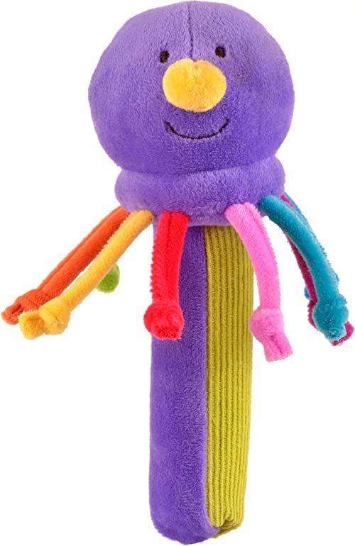 Fiesta Crafts T-2862 ośmiornica grzechotka i piszcząca piszcząca zabawka dla dzieci, różne