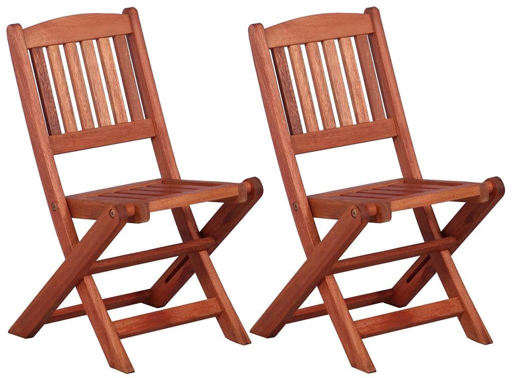 Zestaw drewnianych krzeseł ogrodowych dla dzieci - Pecco