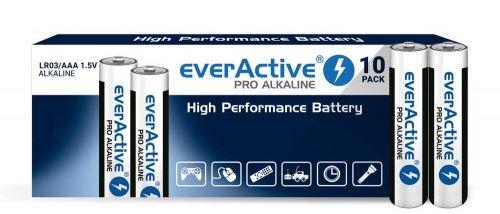 10 x baterie alkaliczne everActive Pro LR03 / AAA