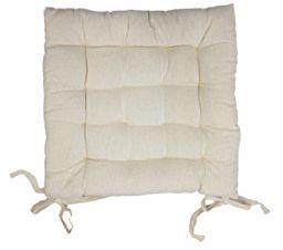 Pokrowiec na krzesło pikowany bawełna PANAMA ecru, 40 x 40 x 5 cm