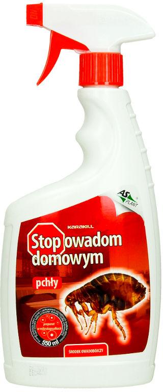 Środek na pchły w domu. Preparat Stop Owadom spray 550ml.