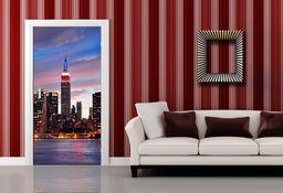 AG Design FTV 1501 New York zachód słońca, papierowa fototapeta - 90 x 202 cm - 1 część, papier, wielokolorowy, 0,1 x 90 x 202 cm