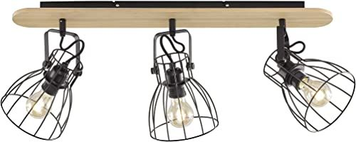 Fischer&Honsel lampa sufitowa, metal, 40 W, czarna