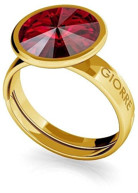 Srebrny pierścionek Swarovski rivoli 10mm, srebro 925 : Srebro - kolor pokrycia - Pokrycie żółtym 18K złotem, SWAROVSKI - kolor kryształu - Siam