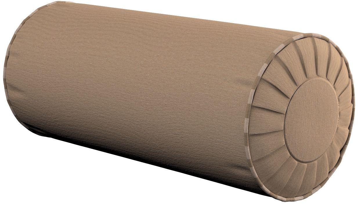 Poduszka wałek z zakładkami, beżowy, Ø20  50 cm, Quadro