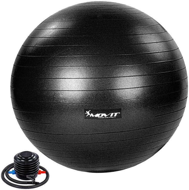 MOVIT Piłka gimnastyczna z pompką, 55 cm, czarna
