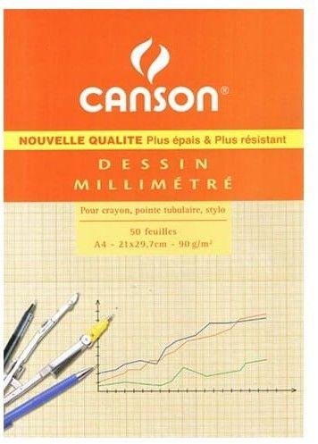 Papier Milimetrowy w Bloku Canson