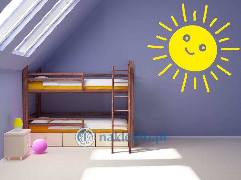Słońce 1 naklejka na ścianę