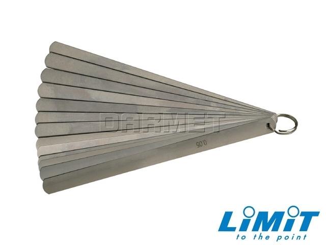 Szczelinomierz płytkowy; 0,05-1,00 mm, 13 płytek- Limit (2595-3506)