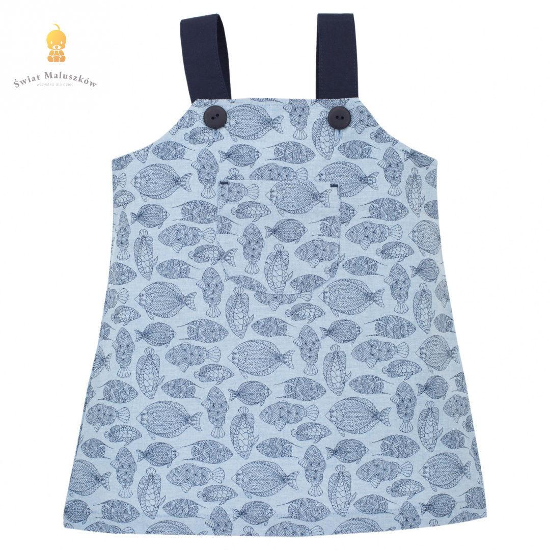 Sukienka na ramiączkach Little Fish niebieska