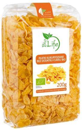 Płatki kukurydziane ekologiczne BIO 200 g, BIOLIFE