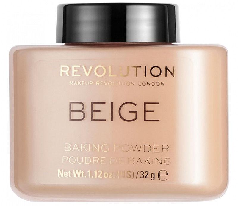 Makeup Revolution Baking Powder puder sypki odcień Beige 32 g