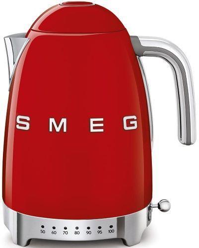 Czajnik SMEG czerwony z regulacją temperatury