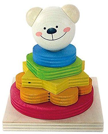 Hess 14863 PP Bear Timi zabawka dla niemowląt, 9 x 9 x 10,5 cm, wielokolorowa