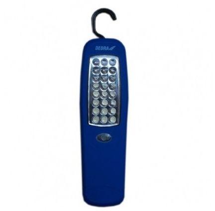 DEDRA Latarka 24 LED podłużna z magnesem i hakiem (baterie w zestawie)