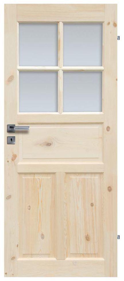 Skrzydło drzwiowe drewniane łazienkowe Londyn Lux 80 Prawe Radex