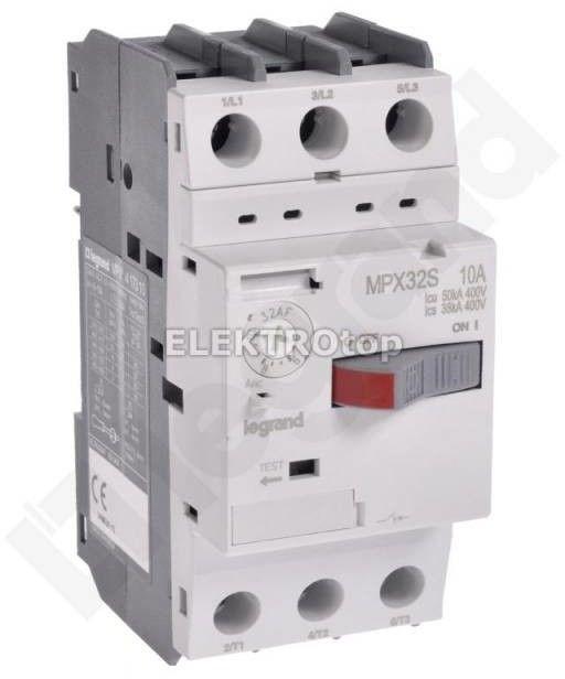 Wyłącznik silnikowy 3P 4kW 6-10A MPX3 32S 417310