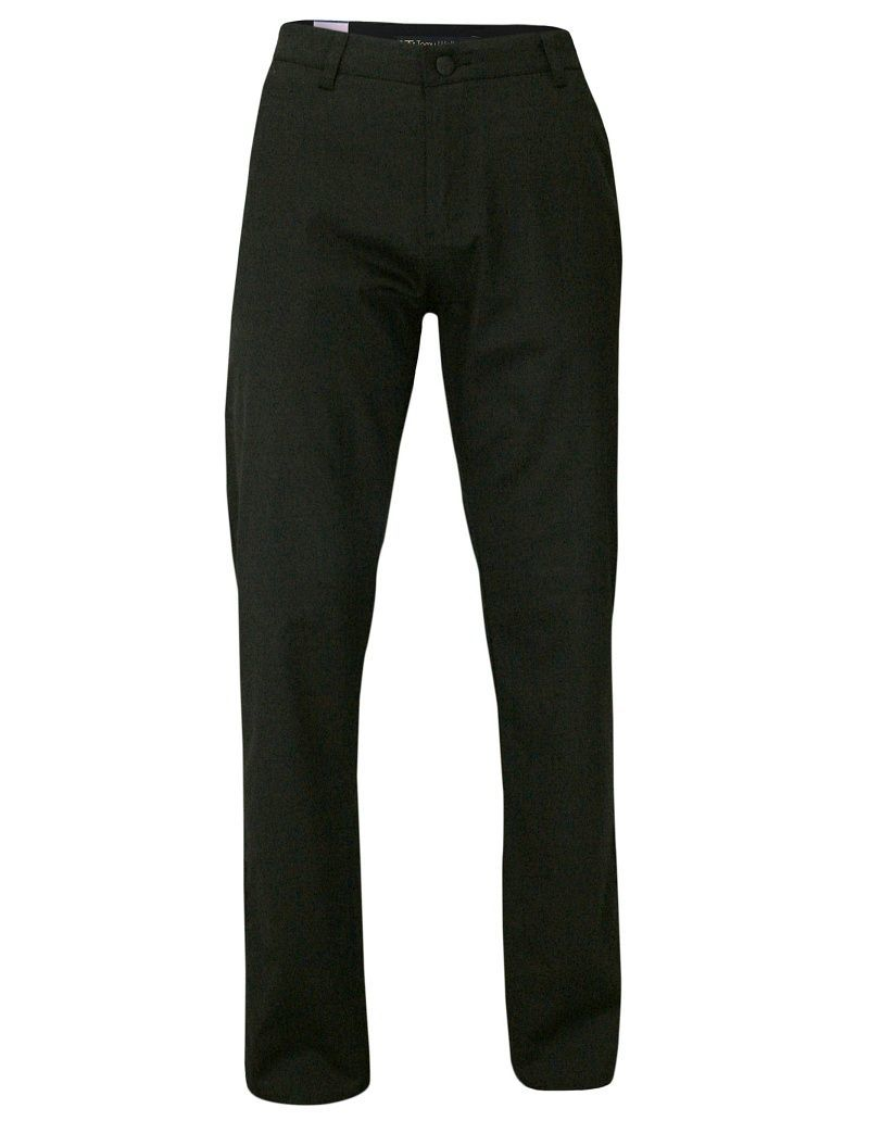 Męskie Spodnie, Chinosy, Klasyczne, Czarne SPTWKR1628765siyah