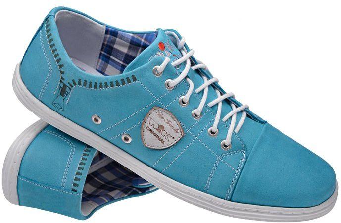 Półbuty Sneakersy NIK 05-0170-003 Lazurowe casual