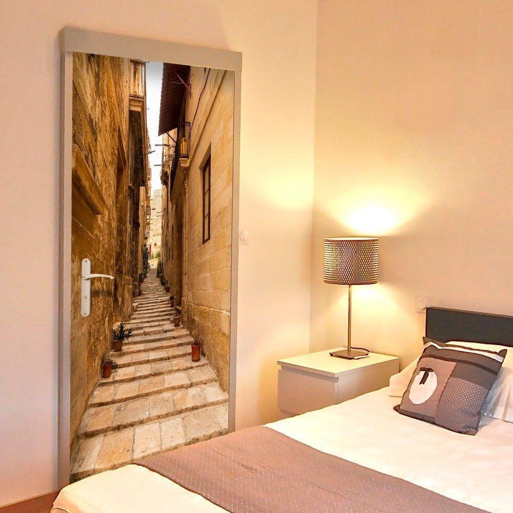 Fototapeta na drzwi - tapeta na drzwi - wąska uliczka